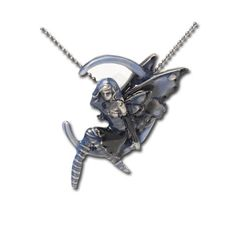 Blue Moon Fairy 2 Necklace Amy Brown Pendant with Chain