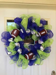 Seattle Seahawks Wreath | For the Home | Pinterest ...