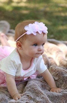 PLH Bows & Laces Floral Headband (Baby Girls & Toddler Girls) available at #Nordstrom