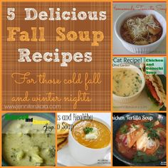 5 delicious fall soup recipes that you will want to make over and over again this winter and fall. Trust me. They are delicious!
