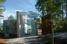 A new project by the interesting Norwegian architectural studio Lund Hagem Midtåsen sculpture park is a work of contemporary architecture that sits Lund, Contemporary Architecture, Pavilion, Norway, Scandinavian, In This Moment, Sculpture, Park, Artwork