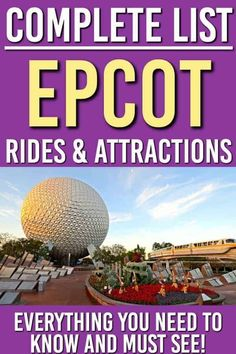 Want to make sure you aren't missing anything when you go to Epcot at Disney World? We have the full list of Epcot rides and attractions here. PLUS Fastpass suggestions so you know how to make the most of Epcot! Disney World Rides, Disney World Parks, Disney World Planning, Disney World Vacation, Disney World Resorts, Disney Vacations, Disney Worlds, Disney Travel, Disney Cruise