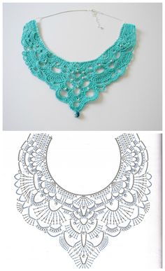 Free Crochet Chandelier Necklace Pattern (with video tutorial) from Bhooked by Britanny featured in recent Sova-Enterprises.com Newsletter!