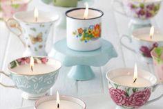 De belles bougies faites maison