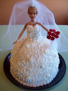 I'm Living the Good Life: Barbie Bride Birthday Cake Barbie Birthday Cake, Cute Birthday Cakes, Barbie Cake, Birthday Board, Birthday Ideas, Fourth Birthday, Birthday Wishes, Happy Birthday, Brides Cake