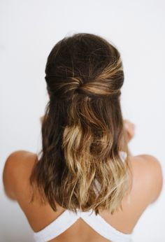 Show your hair (and your other half) some love with these two quick and elegant hairstyles, just in time for date night!