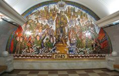 Art in Moscow metro, Russia