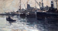Nicolas De Corsi - Barche al porto