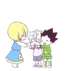 kurapika~killua~gon ~~ omg this is just too cute