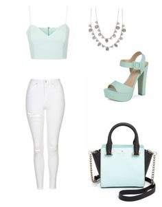 """""""Mint Stylings"""" by haybeebaby on Polyvore featuring Topshop, Call it SPRING, Givenchy and Kate Spade"""