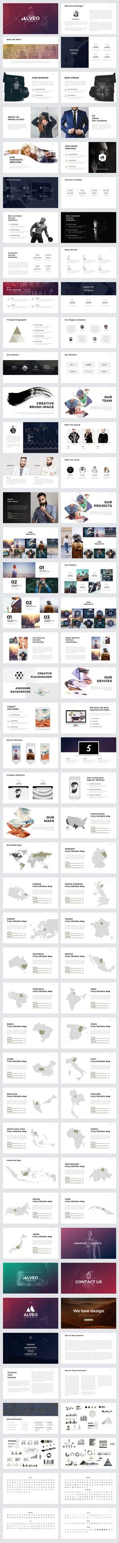 Alveo #Minimal #PowerPoint Template by Slidedizer Licenses Offered StandardExtendedFile Types PDF, PSD, All FilesFile Size 142.46 MBLayered YesVector Yes
