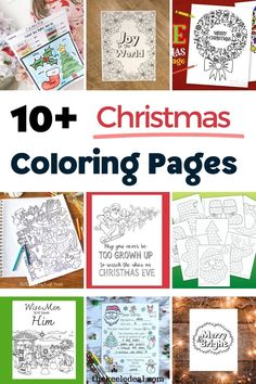 10+ Christmas Coloring Pages that are free to print from home. Christmas Coloring pages are such a fun and easy craft for all ages during the Christmas season. Christmas Tree Coloring Page, Printable Christmas Coloring Pages, Free Printable Coloring Pages, Free Printables, Nativity Coloring Pages, Quote Coloring Pages, Christmas Colors, Christmas Fun, Holiday