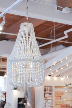 Beaded Chandelier from @thecrossdesign | monikahibbs.com