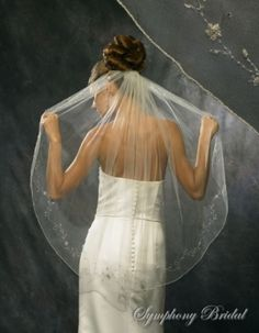 Gorgeous Symphony Bridal Veil Style 3111 Instock Ivory Silver Finger Tip, 62% off   Recycled Bride