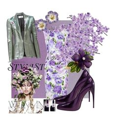 """violett"" by marionmeyer on Polyvore featuring Laura Cole, KAROLINA, Kaliko, Gucci, Faith Connexion, women's clothing, women's fashion, women, female and woman"