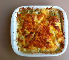 Heilbotfilet met courgette, champignons en kaas