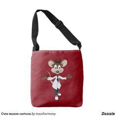 Cute mouse cartoon tote bag