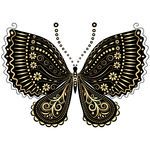 Vintage Butterfly Clip Art | white butterfly Clip Art Vector Graphics. 2,314 Black white butterfly ...