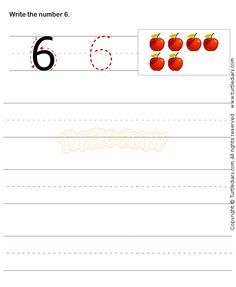 Number Writing Worksheet 6 - math Worksheets - preschool Worksheets