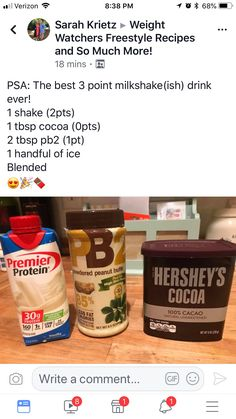 Protein shake recipes 64387469660438062 - Weight Watchers Smoothies Protein Shakes Low Carb New Ideas Source by Weight Watcher Desserts, Weight Watchers Snacks, Weight Watchers Smoothies, Weight Watchers Points Plus, Protein Smoothies, Protein Snacks, Pancakes Protein, Pb2 Smoothie, Fruit Smoothies