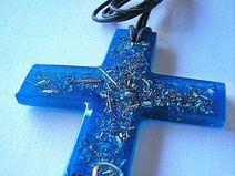 Kreuz Anhänger Halskette Orgonit - Handgemachte