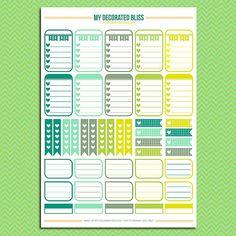 03 Sampler Set Printable Planner Stickers by MyDecoratedBliss