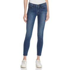 Frame Le Skinny De Jeanne Jeans in Fall Brooke ($225) ❤ liked on Polyvore featuring jeans, fallbrooke, cut skinny jeans, blue jeans, denim skinny jeans, blue skinny jeans and skinny jeans
