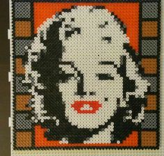 Marilyn Monroe hama beads by starwars75