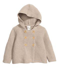 Cárdigan algodón con capucha | Topo claro | Niños | H&M MX