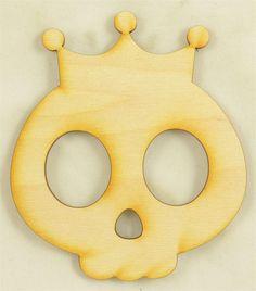 En bois MDF Halloween Grim-Reaper formes Bunting Craft Ornements Décorations