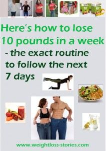 how to lose 10 pounds in a week easy
