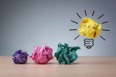Inspiration concept crumpled paper light bulb metaphor for good idea - stock photo Great Small Business Ideas, New Business Ideas, Online Business, Craft Business, Business Planning, Creative Business, Business Tips, Web Design, Creative Design