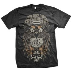 A Day To Remember: Owl T-Shirt (Black) - Victory Merch