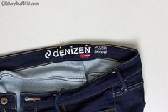 How to alter your jeans waistband, to take in a too big waist and remove the gap. A sewing DIY.