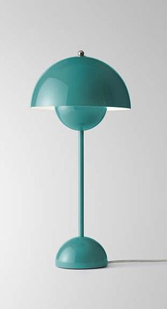 Bauhaus object due to respect for shape and form. Verner Pantons flowerpot lamp