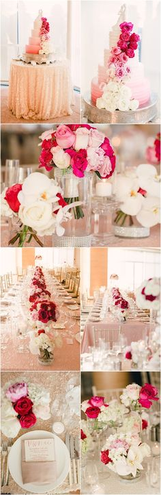 Glamorous wedding reception with luxurious details. Featured Photographer: Mi Belle Photographers