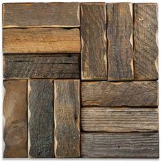 Reclaimed Barnwood Tiles - Mission Stone and Tile - Luxury Tile Store - Nashville, TN Modern Flooring, Flooring Ideas, Flooring Options, Nautical Bathrooms, Small Bathrooms, Tile Stores, Reclaimed Barn Wood, Teak Wood, Reno