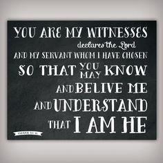 You are my Witnesses Scripture Verse Art Print by BuhbayQuotes, $7.25