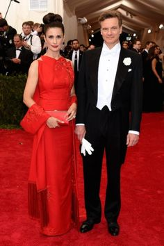 Livia Giuggioli and Colin Firth at the Met Gala 2015. Click on the image to see more looks.