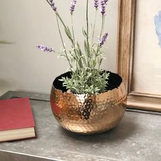 Hammered Copper Plant Pot / Bowl | Farthing | The Farthing