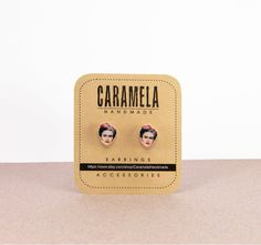 Frida Kahlo stud earrings by CaramelaHandmade on Etsy