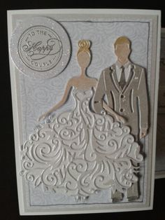 Tattered Lace George and Bella dies. Wild Rose Studio papers and stamp.