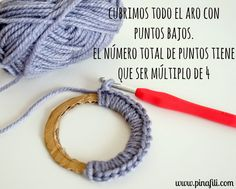Crochet Rings, Crochet Necklace, Crochet Home, Diy Crochet, Crochet Stitches, Crochet Patterns, Crochet Circles, Crochet Accessories, Crochet Projects