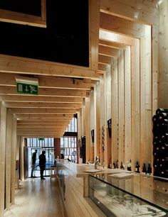 La Bohème, Porto, Portugal Making a bold visual statement doesn't necessarily require an extravagant budget and precious materials. At La Bohème, local firm AVA Architects designed a stylish interior envelope by using plain pine lumber as its signature material.