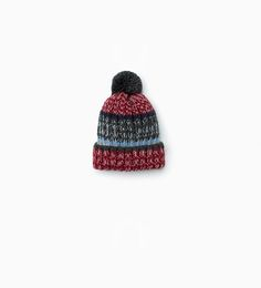 ZARA - KIDS - Striped knit hat