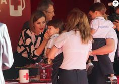 Queen Letizia attended the Red Cross Fundraising Day at the Congress of Deputies on Little Flag Day (Fiesta de la Banderita) on October 2, 2015 in Madrid, Spain.