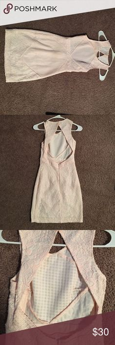 Blush Pink open back lace dress Blush pink open back lace dress. Make a offer! Always willing to negotiate! Blush Dresses