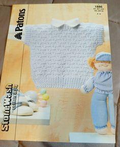 Baby/Toddler Vest Patons knitting pattern DK yarn 16-24 inch #Patons