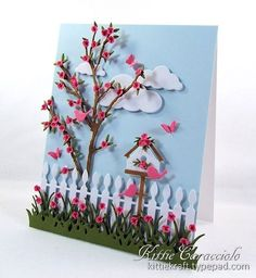 Cheery Spring Scene by kittie747 - Cards and Paper Crafts at Splitcoaststampers