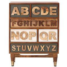 Alphabet Nightstand - Kids Nightstands - Kids Room Furniture | HomeDecorators.com